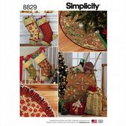 8829 Simplicity Pattern: Holiday Decorating - Stockings, Tree Skirt